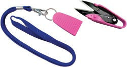 Dura Snips Squeeze Style Thread Snips 4.75in Pink & Black