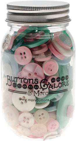 Buttons Galore Button Mason Jars Fantasy