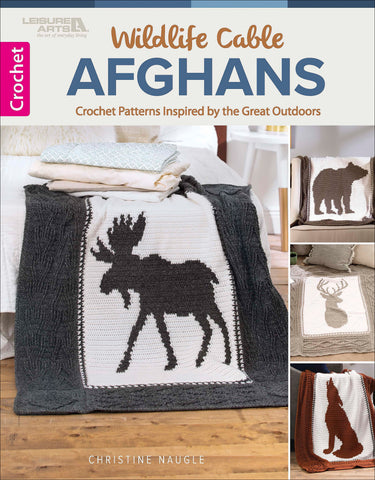Leisure Arts Wildlife Cable Afghans