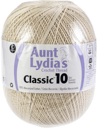 Aunt Lydia's Jumbo Crochet Cotton Thread Natural, Multipack Of 3