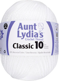 Aunt Lydia's Jumbo Crochet Cotton Thread White, Multipack Of 4