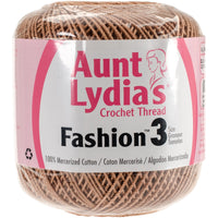 Aunt Lydia's Fashion Crochet Thread Copper Mist, Multipack Of 12