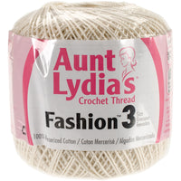 Aunt Lydia's Fashion Crochet Thread Bridal White, Multipack Of 12