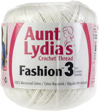 Aunt Lydia's Fashion Crochet Thread White, Multipack Of 12