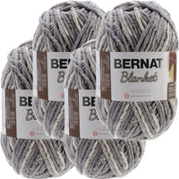 Bernat® Blanket Big Ball Yarn Silver Steel, Multipack Of 4