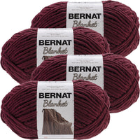 Bernat® Blanket Big Ball Yarn Purple Plum, Multipack Of 4