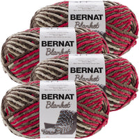 Bernat® Blanket Big Ball Yarn Raspberry Trifle, Multipack Of 4