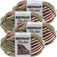 Bernat® Blanket Big Ball Yarn Plum Field, Multipack Of 4