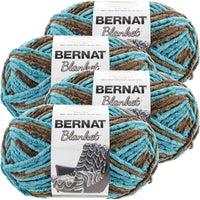 Bernat® Blanket Big Ball Yarn Mallard Wood, Multipack Of 4