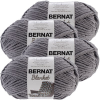 Bernat® Blanket Big Ball Yarn Dark Grey, Multipack Of 4