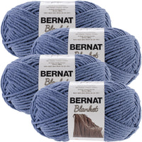 Bernat® Blanket Big Ball Yarn Country Blue, Multipack Of 4