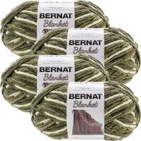 Bernat® Blanket Big Ball Yarn Gathering Moss, Multipack Of 4