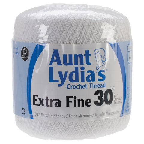 Aunt Lydia's Extra Fine Crochet Thread White, Multipack Of 12