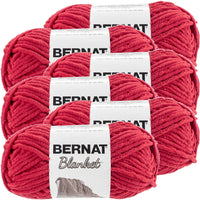 Bernat® Blanket Yarn Cranberry, Multipack Of 6