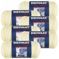 Bernat® Super Value Yarn Natural, Multipack Of 6