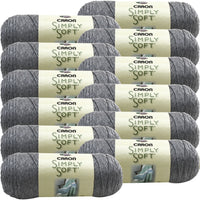 Caron® Simply Soft® Heather Yarn Soft Grey, Multipack Of 12