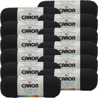 Caron® Simply Soft® Yarn Black, Multipack Of 12
