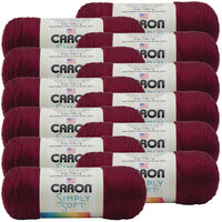 Caron® Simply Soft® Yarn Burgundy, Multipack Of 12