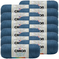 Caron® Simply Soft® Yarn Country Blue, Multipack Of 12