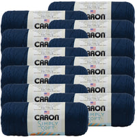 Caron® Simply Soft® Yarn Dark Country Blue, Multipack Of 12