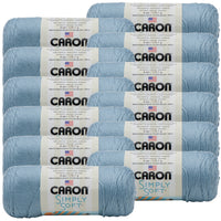 Caron® Simply Soft® Yarn Light Country Blue, Multipack Of 12
