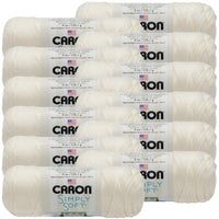 Caron® Simply Soft® Yarn Off White, Multipack Of 12