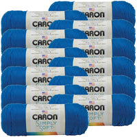Caron® Simply Soft® Yarn Royal Blue, Multipack Of 12