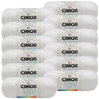 Caron® Simply Soft® Yarn White, Multipack Of 12