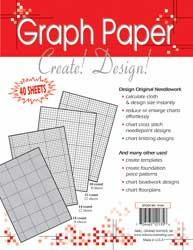 Needlework Graph Paper 8 1/2inX11in 40 Sheets Of Various Counts