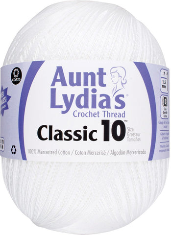 Aunt Lydia's Jumbo Crochet Cotton White