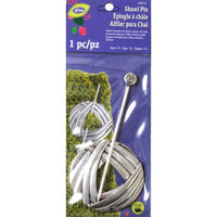 LoRan Shawl Stick Pin Round Yarn Design With Silver Finish