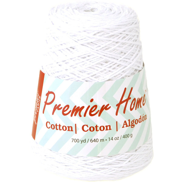Premier Yarns-Home Cotton Grande Yarn-Solid Turquoise or Yellow Ball 14oz 400g