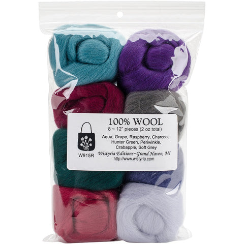 Wool Roving Vintage 12in .25oz 8pk