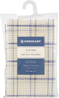 Zweigart Rug Canvas 3.75 Mesh Blue Checked 24inX30in
