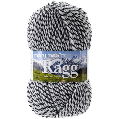 Mary Maxim Starlette Ragg Yarn Black