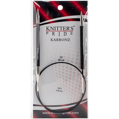 Karbonz Fixed Circular Needles 24in Size 9 (5.5mm)