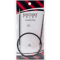Karbonz Fixed Circular Needles 32in Size 1 (2.25mm)