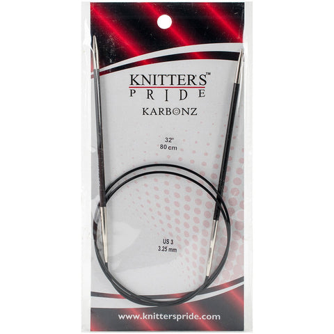 Karbonz Fixed Circular Needles 32in Size 3 (3.25mm)