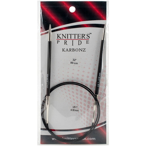 Karbonz Fixed Circular Needles 32in Size 7 (4.5mm)