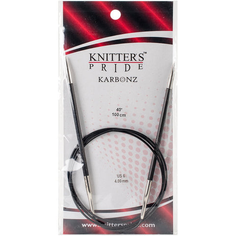 Karbonz Fixed Circular Needles 40in Size 6 (4mm)