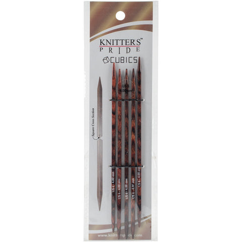 Symfonie Cubics Double Pointed Needles 6in Size 6 (4mm)