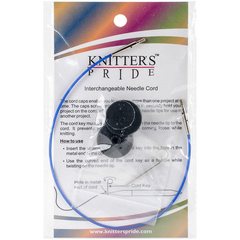 Knitter's Pride Interchangeable Cords 11in Blue