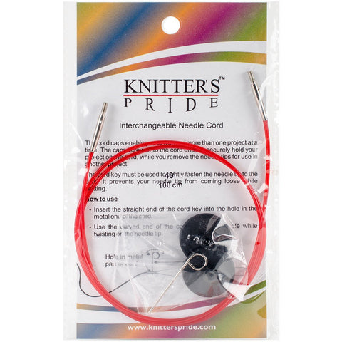 Knitter's Pride Interchangeable Cords 30in Red