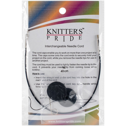 Knitter's Pride Interchangeable Cords 8in Black