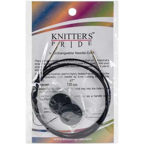 Knitter's Pride Interchangeable Cords 37in Black