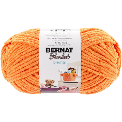 Bernat Blanket Brights Big Ball Yarn Carrot Orange