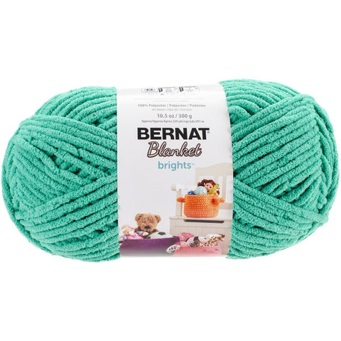 Bernat® Blanket Brights Yarn Go Go Green 10.5oz