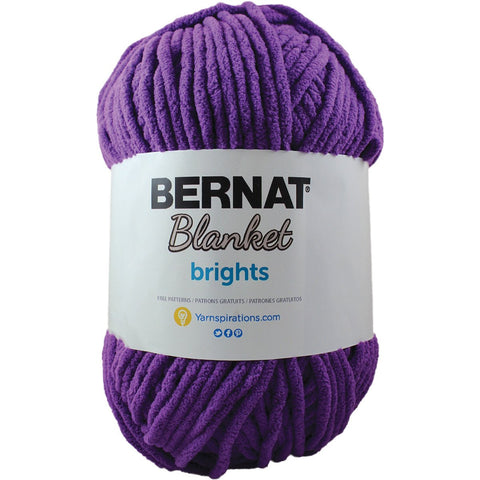 Bernat® Blanket Brights Yarn Pow Purple 10.5oz