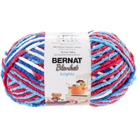 Bernat® Blanket Brights Yarn Red, White & Boom Variegated 10.5oz