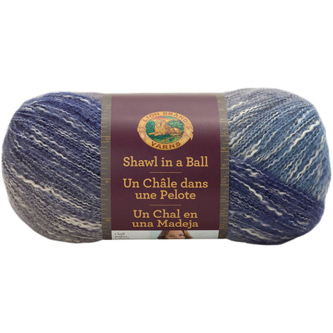 Lion Brand Shawl In A Ball Yarn Soothing Blue